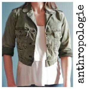 Anthropologie Hei Hei Military Cropped Jacket